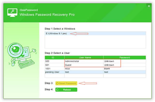 reset locked admin account windows 7